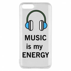Phone case for Xiaomi Mi6 Music is my energy
