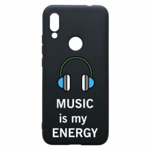 Phone case for Xiaomi Redmi 7 Music is my energy