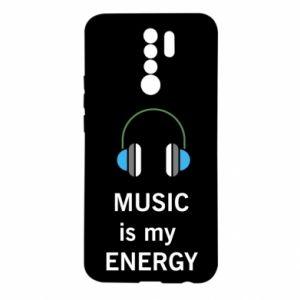 Xiaomi Redmi 9 Case Music is my energy