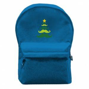 Plecak z przednią kieszenią Mustache Christmas Tree