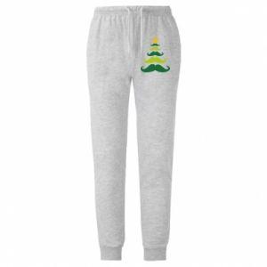 Spodnie lekkie męskie Mustache Christmas Tree