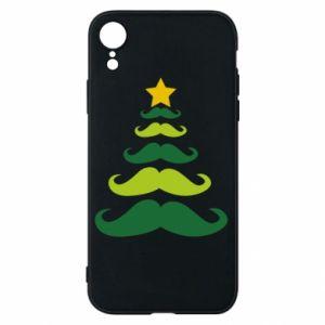 Etui na iPhone XR Mustache Christmas Tree
