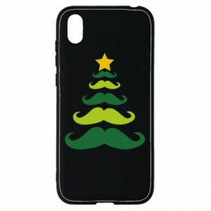 Etui na Huawei Y5 2019 Mustache Christmas Tree