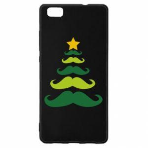 Etui na Huawei P 8 Lite Mustache Christmas Tree