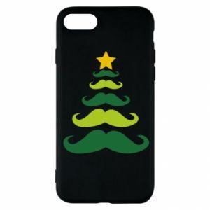 Etui na iPhone SE 2020 Mustache Christmas Tree