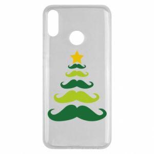 Etui na Huawei Y9 2019 Mustache Christmas Tree