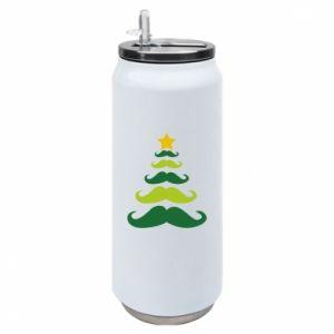 Puszka termiczna Mustache Christmas Tree