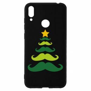 Etui na Huawei Y7 2019 Mustache Christmas Tree