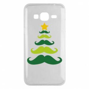 Etui na Samsung J3 2016 Mustache Christmas Tree