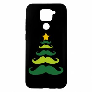 Etui na Xiaomi Redmi Note 9/Redmi 10X Mustache Christmas Tree