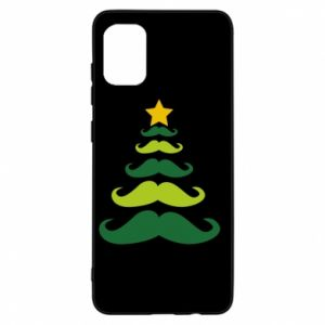 Etui na Samsung A31 Mustache Christmas Tree
