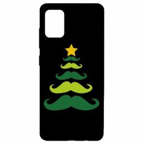 Etui na Samsung A51 Mustache Christmas Tree