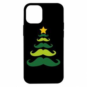 Etui na iPhone 12 Mini Mustache Christmas Tree