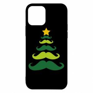 Etui na iPhone 12/12 Pro Mustache Christmas Tree