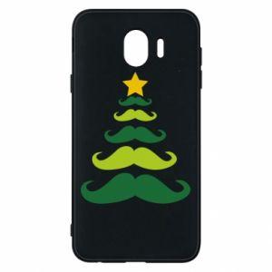 Etui na Samsung J4 Mustache Christmas Tree