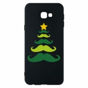 Etui na Samsung J4 Plus 2018 Mustache Christmas Tree