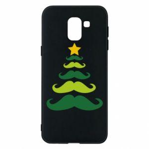 Etui na Samsung J6 Mustache Christmas Tree