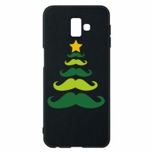 Etui na Samsung J6 Plus 2018 Mustache Christmas Tree
