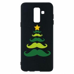 Etui na Samsung A6+ 2018 Mustache Christmas Tree