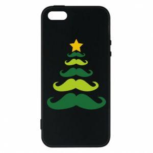 Etui na iPhone 5/5S/SE Mustache Christmas Tree