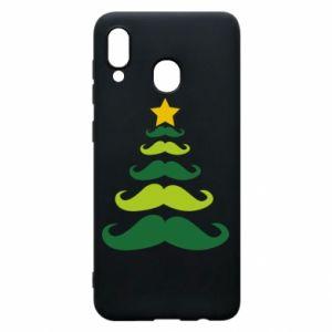 Etui na Samsung A30 Mustache Christmas Tree