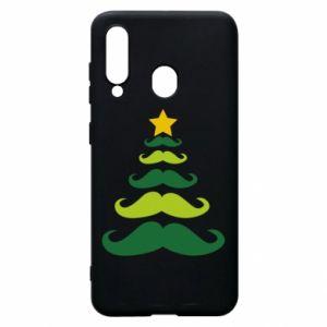 Etui na Samsung A60 Mustache Christmas Tree