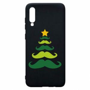 Etui na Samsung A70 Mustache Christmas Tree