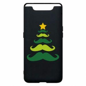 Etui na Samsung A80 Mustache Christmas Tree