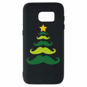 Etui na Samsung S7 Mustache Christmas Tree