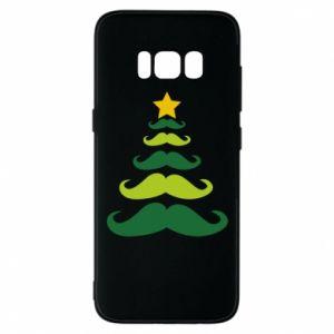 Etui na Samsung S8 Mustache Christmas Tree