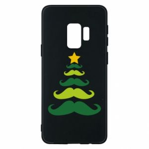 Etui na Samsung S9 Mustache Christmas Tree