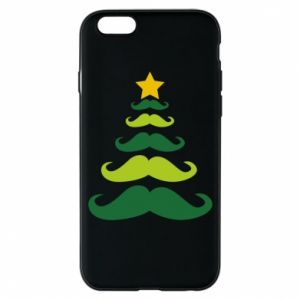 Etui na iPhone 6/6S Mustache Christmas Tree