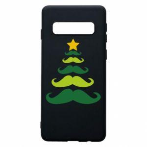 Etui na Samsung S10 Mustache Christmas Tree