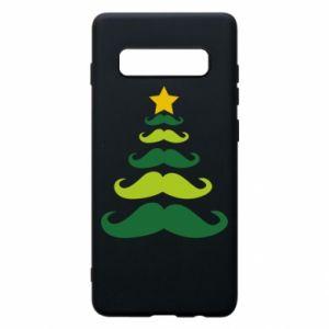 Etui na Samsung S10+ Mustache Christmas Tree