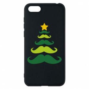 Etui na Huawei Y5 2018 Mustache Christmas Tree