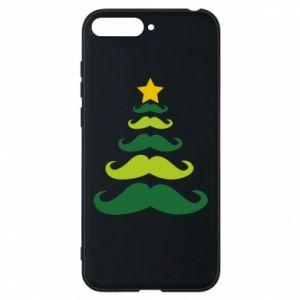 Etui na Huawei Y6 2018 Mustache Christmas Tree
