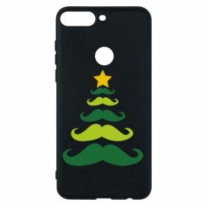 Etui na Huawei Y7 Prime 2018 Mustache Christmas Tree