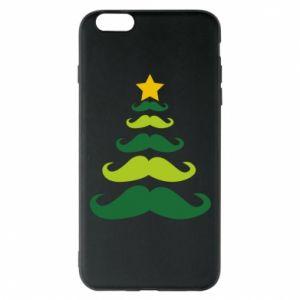Etui na iPhone 6 Plus/6S Plus Mustache Christmas Tree