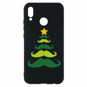 Etui na Huawei P20 Lite Mustache Christmas Tree