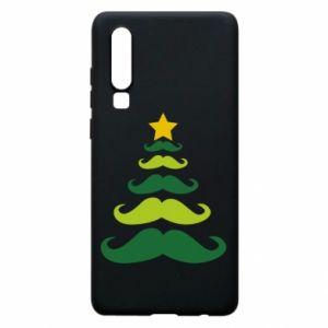 Etui na Huawei P30 Mustache Christmas Tree