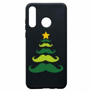 Etui na Huawei P30 Lite Mustache Christmas Tree
