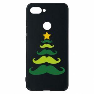 Etui na Xiaomi Mi8 Lite Mustache Christmas Tree