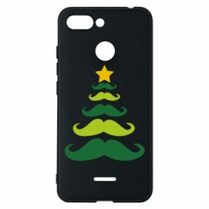 Etui na Xiaomi Redmi 6 Mustache Christmas Tree