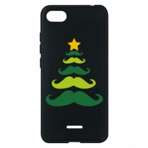 Etui na Xiaomi Redmi 6A Mustache Christmas Tree