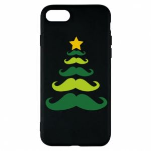 Etui na iPhone 7 Mustache Christmas Tree