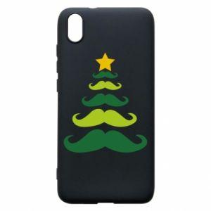 Etui na Xiaomi Redmi 7A Mustache Christmas Tree