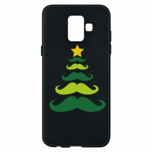 Etui na Samsung A6 2018 Mustache Christmas Tree