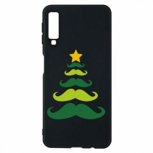 Etui na Samsung A7 2018 Mustache Christmas Tree