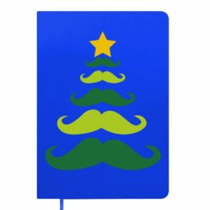Notepad Mustache Christmas Tree