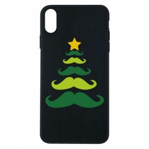 Etui na iPhone Xs Max Mustache Christmas Tree